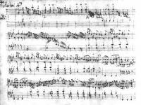 Scarlatti score in the handwriting of A. Reggio